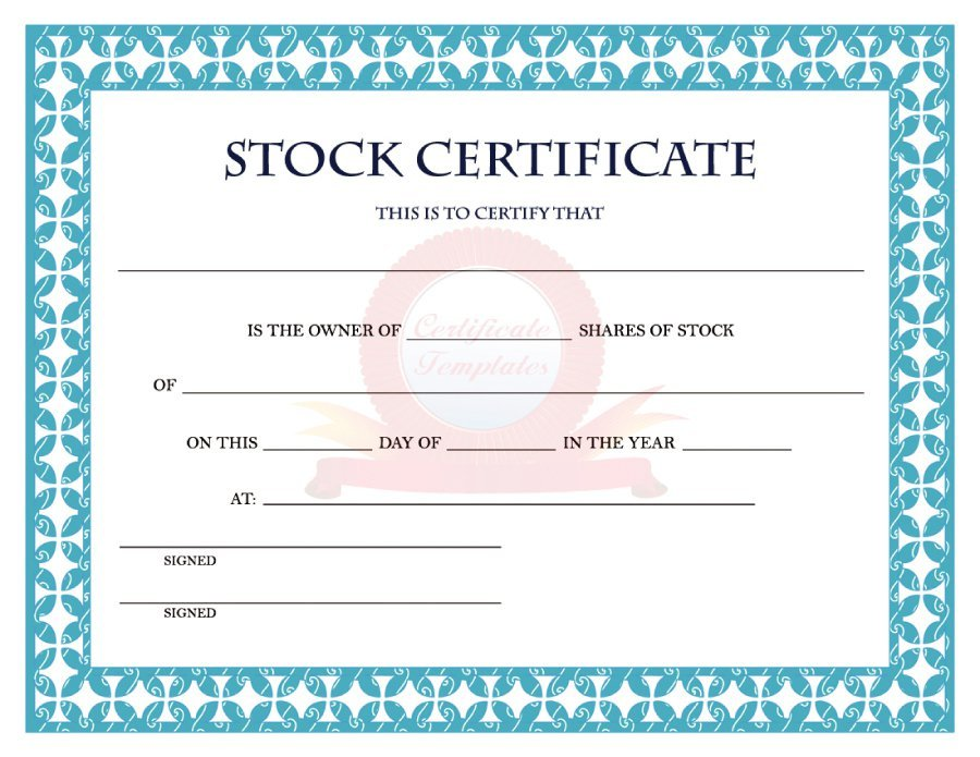 41 Free Stock Certificate Templates (Word, PDF) \u2013 Free Template