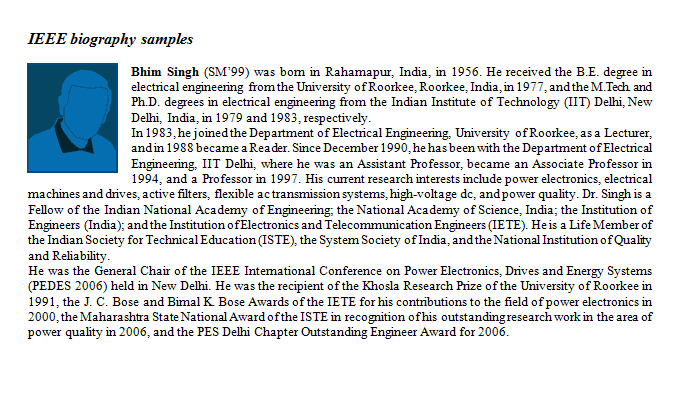 personal bibliography sample