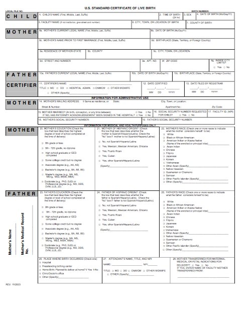 15 Birth Certificate Templates (Word  PDF) \u2013 Free Template Downloads