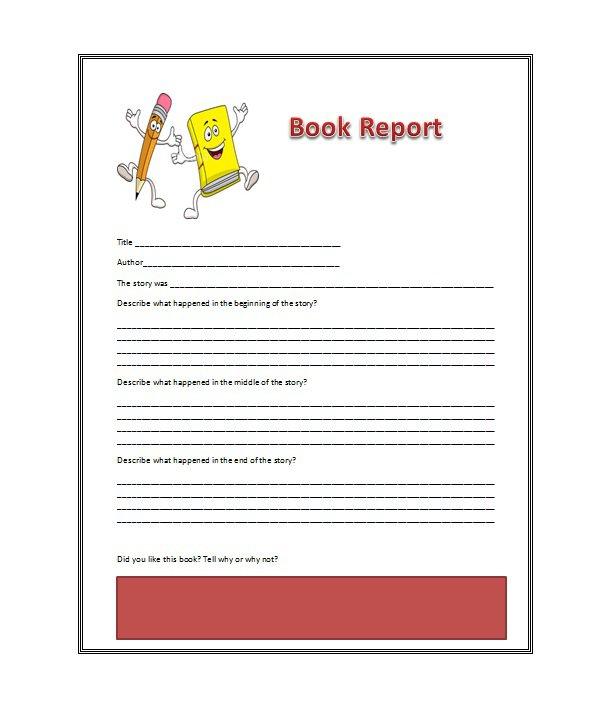 high school book report worksheet