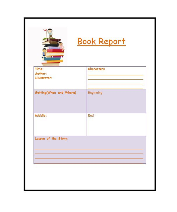 30 Book Report Templates \ Reading Worksheets u2013 Free Template - printable book review template