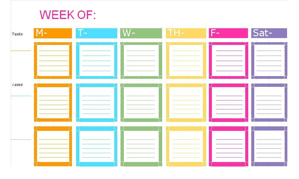 51 Free Printable To Do List \ Checklist Templates (Excel + Word - weekly checklist