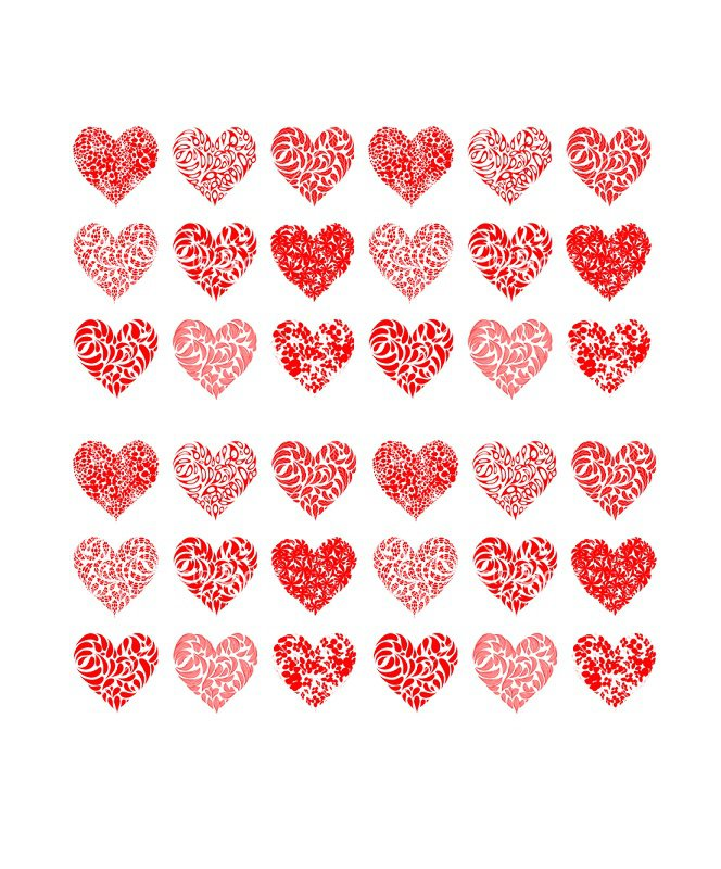 40 Printable Heart Template  15 Usage Examples - Free Template