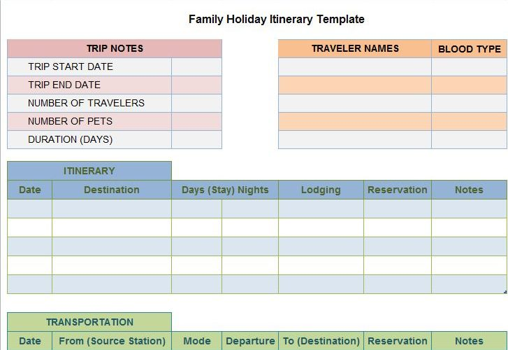 Free Template Downloads \u2013 Page 3 \u2013 Free Microsoft Word, Excel and - microsoft itinerary template
