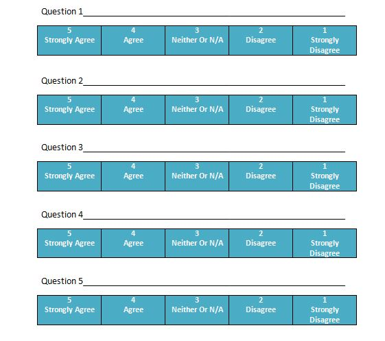 30 Free Likert Scale Templates  Examples \u2013 Free Template Downloads