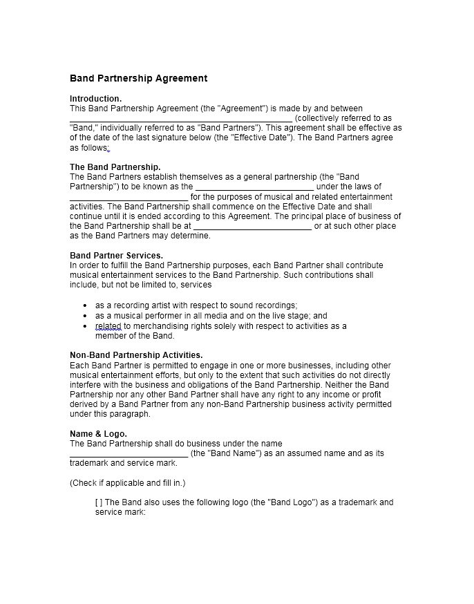 40+ FREE Partnership Agreement Templates (Business, General) \u2013 Free