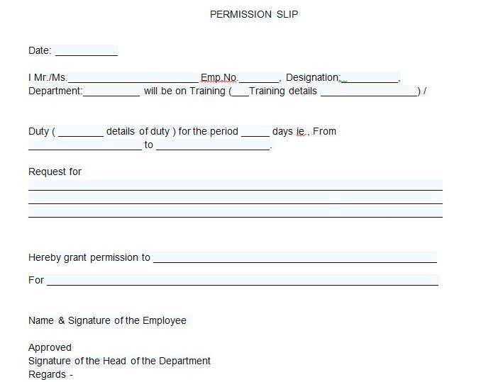 35 Permission Slip Templates  Field Trip Forms \u2013 Free Template - permission slip template