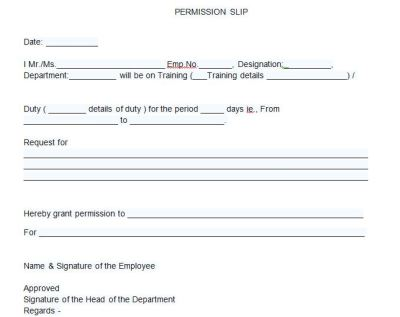 35 Permission Slip Templates & Field Trip Forms - Free Template Downloads