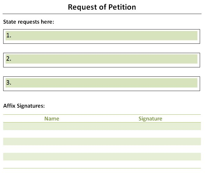 Old Fashioned Petition Templates Picture Collection - Professional