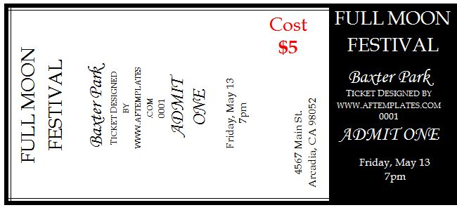 41 Free Editable Raffle \ Movie Ticket Templates u2013 Free Template - movie ticket template