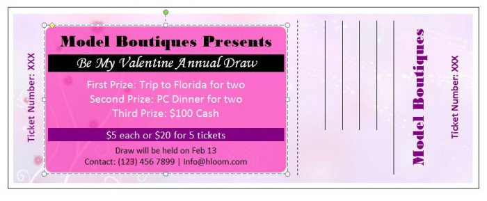 41 Free Editable Raffle  Movie Ticket Templates \u2013 Free Template