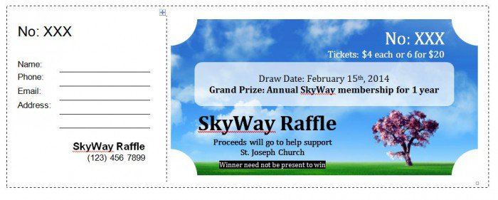 41 Free Editable Raffle  Movie Ticket Templates - Free Template