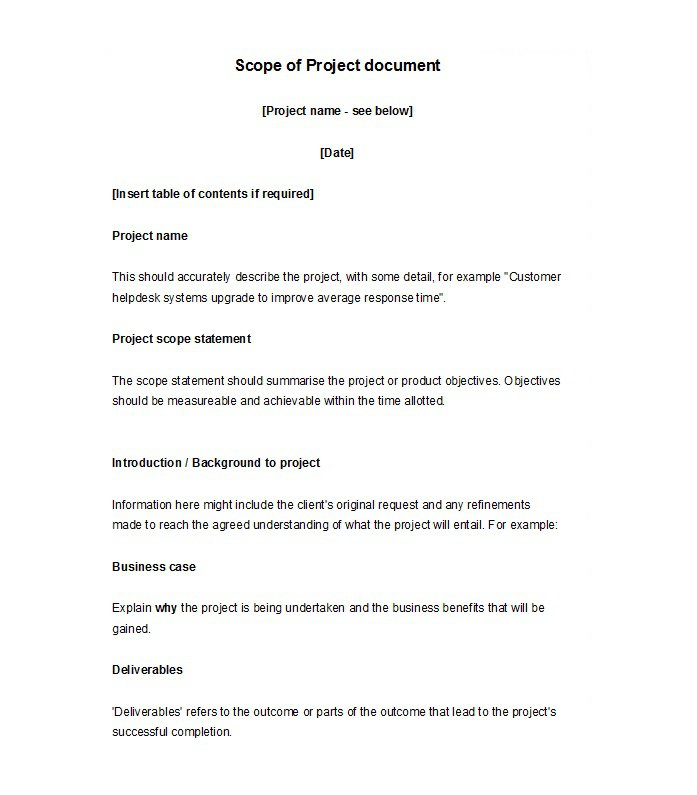 30 Ready-to-use Scope of Work Templates  Examples \u2013 Free Template - business case examples free