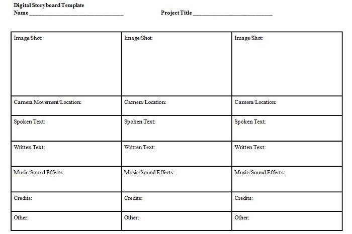 Free Storyboard Templates Free Sample Example Format Download Free - sample video storyboard template