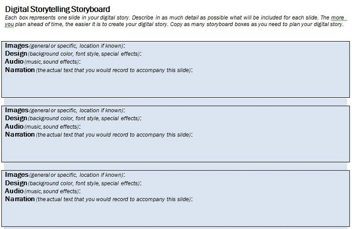 40 Professional Storyboard Templates \ Examples u2013 Free - digital storyboard templates