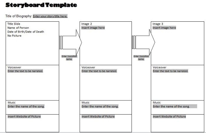 Sample Storyboard u2013 Free Template Downloads - free storyboard templates
