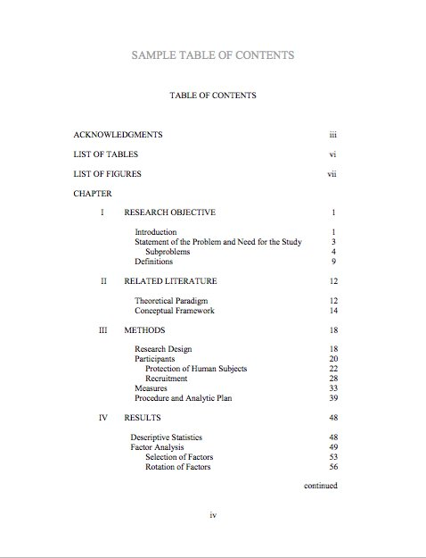 20 Table of Contents Templates and Examples \u2013 Free Template Downloads