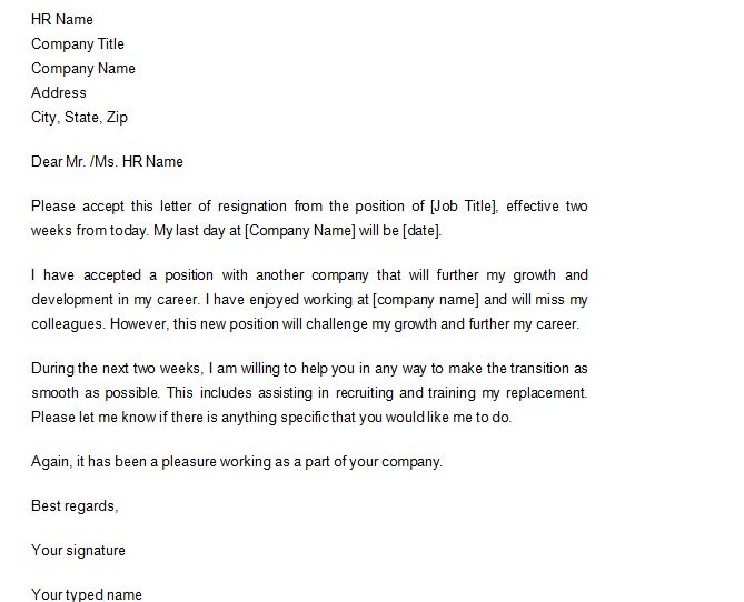 40 Two Weeks Notice Letters \ Resignation Letter Templates u2013 Free - two weeks notice letter