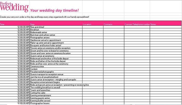 37 Free Beautiful Wedding Guest List  Itinerary Templates \u2013 Free