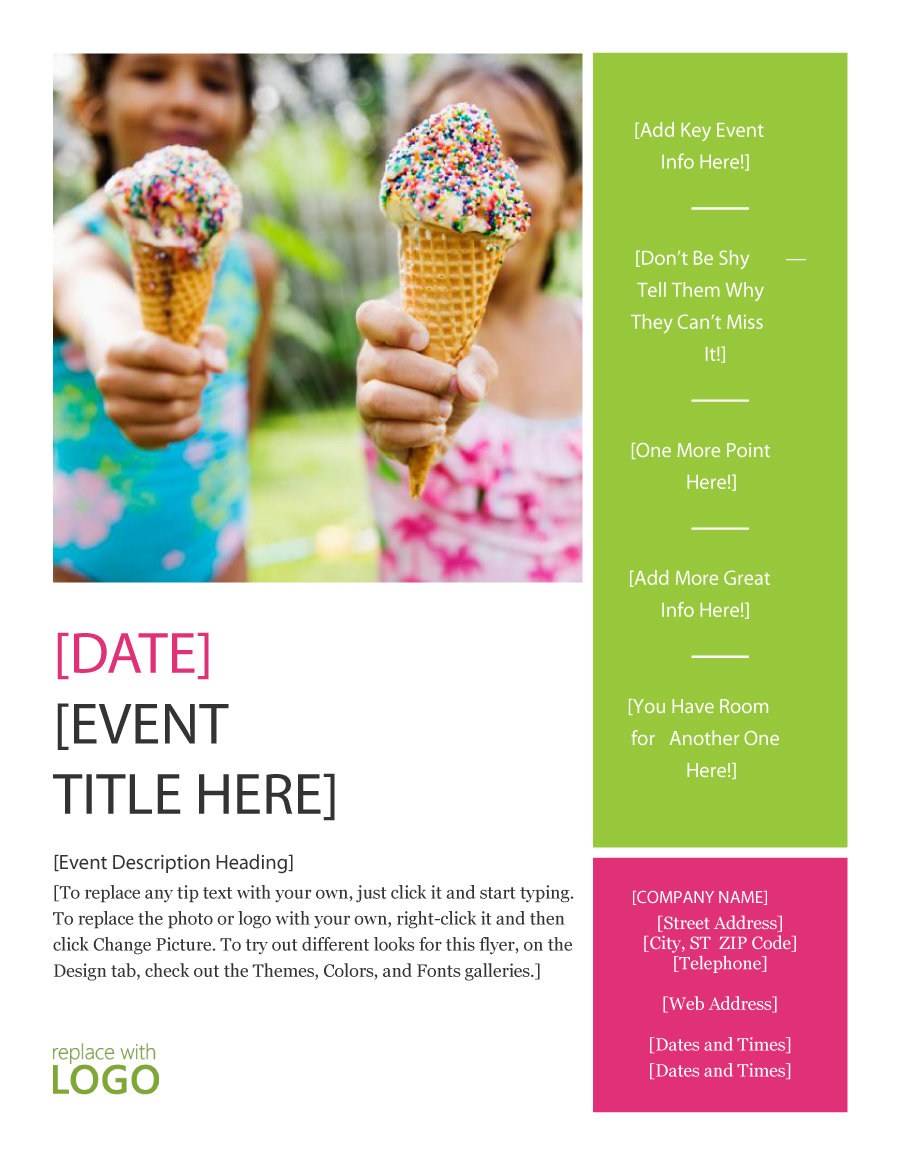 flyer samples templates free