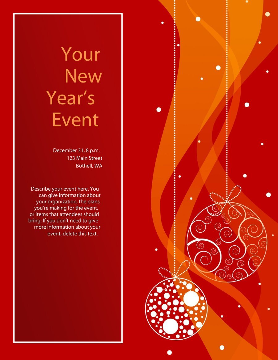 holiday lunch flyer template