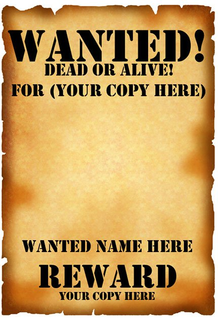 wanted poster template word - zrom