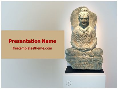 Free Buddha PowerPoint Template freetemplatestheme - buddhism powerpoint