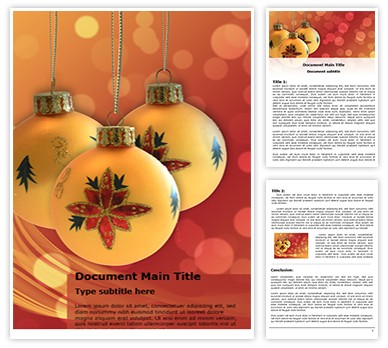 Free Christmas Decorations Word Template freetemplatestheme