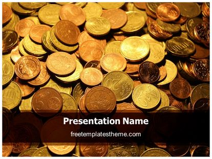 Free Coins Background PowerPoint Template freetemplatestheme - money background for powerpoint