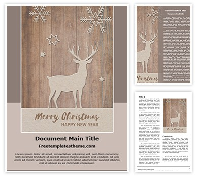 Free Merry Christmas New Year Word Template freetemplatestheme