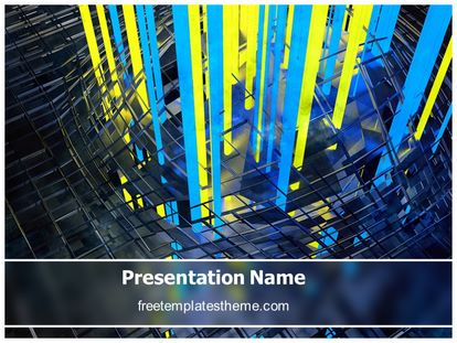 Free Metal Rays Abstract PowerPoint Template freetemplatestheme