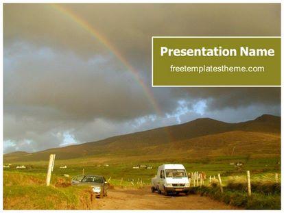 Free Rainbow PowerPoint Template freetemplatestheme