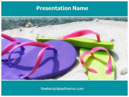 Free Summer Beach PowerPoint Template freetemplatestheme