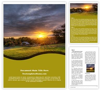 Free Sunset View Word Template freetemplatestheme