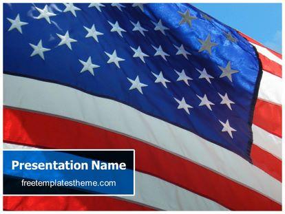 Free USA Flag PowerPoint Template freetemplatestheme