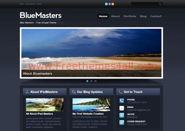 Abstract Responsive Blue Drupal Theme Free Download