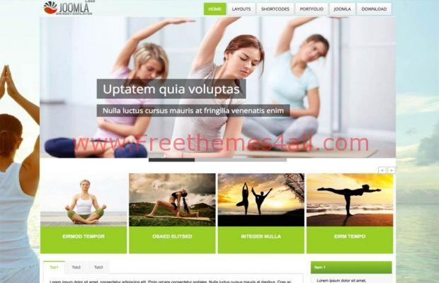 Free Responsive Fitness Yoga Joomla Template - Freethemes4all - Fitness Templates Free