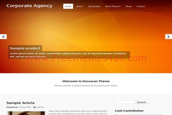 Free Corporate Business Agency Drupal Theme - Freethemes4all