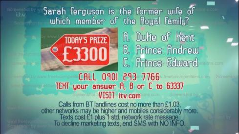 Tuesdays Real Deal competition answer, Tues 30th April 2013 Valid to 7th May 2013.
