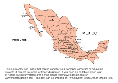 Mexico Map Royalty Free, clipart, jpg