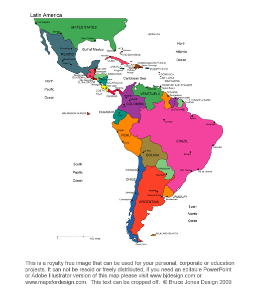 wallalaf blank map of south america and central america - latin america blank map