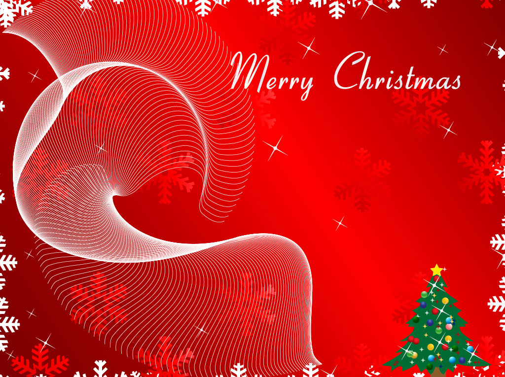 Merry Christmas Background Vector Art  Graphics freevector