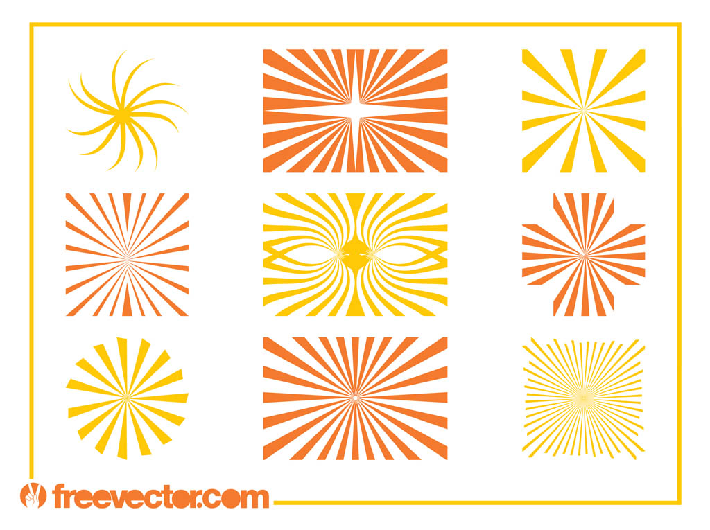 Starburst Patterns Graphics Vector Art  Graphics freevector