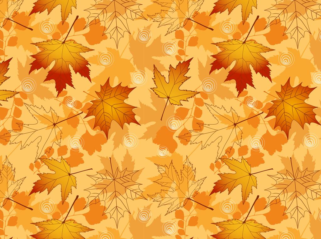 Fall Leaves Phone Wallpaper Art Vector Autumn Pattern Vector Art Amp Graphics Freevector Com