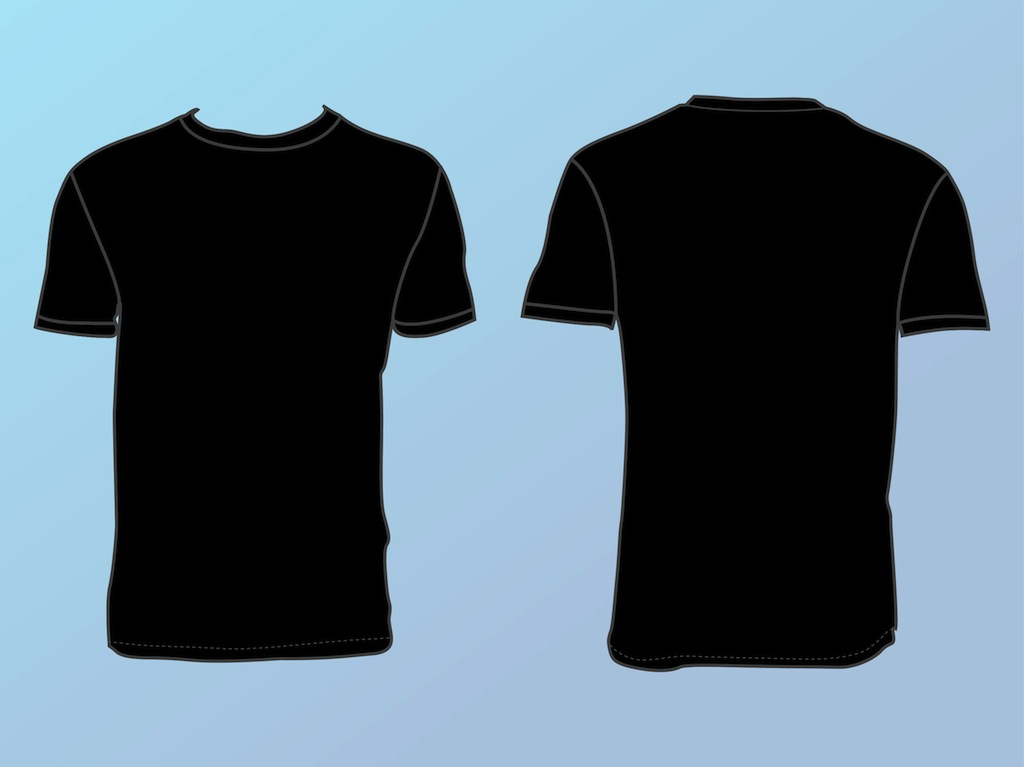 Basic T Shirt Template Vector Art  Graphics freevector