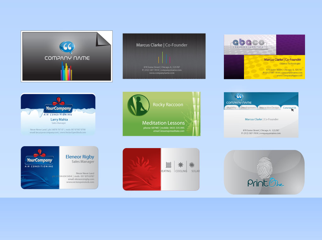 Vector Business Card Templates Vector Art  Graphics freevector - free cards templates