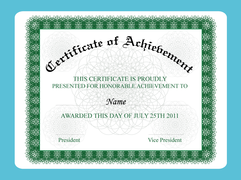 Achievement Certificate Vector Art  Graphics freevector