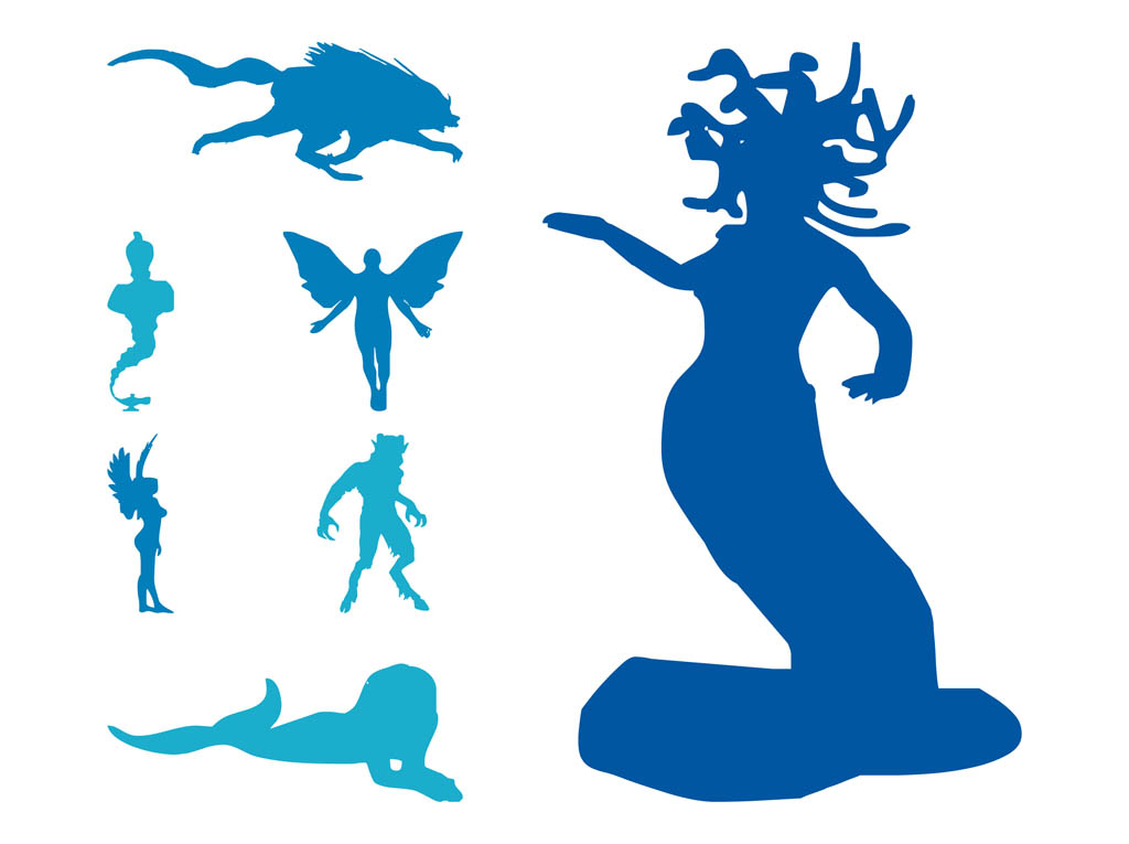 When Was Calendar Created Mythological Creatures Shijin Shishin Four Legendary Chinese Creatures Mythological Creatures Set Vector Art And Graphics