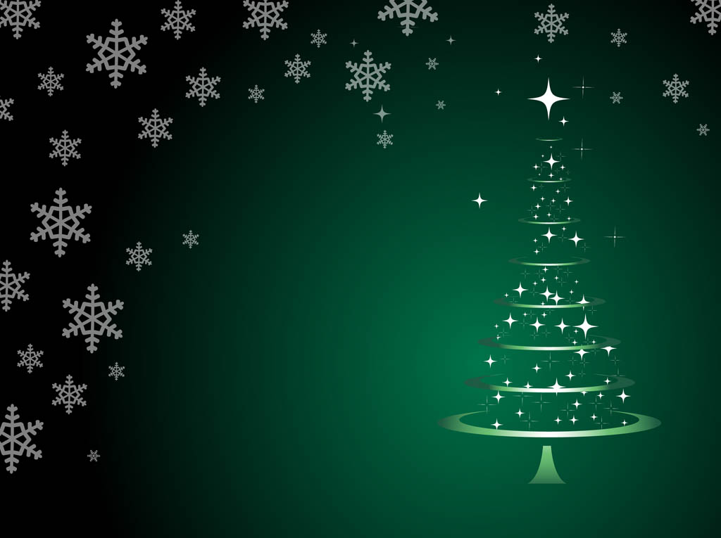 Christmas Tree Background Vector Vector Art  Graphics freevector