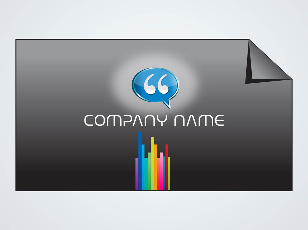 Rainbow Business Card Vector Art  Graphics freevector